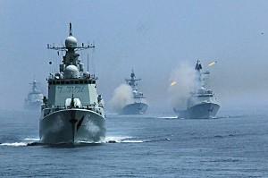 Военные морские учения Россия - Китай
