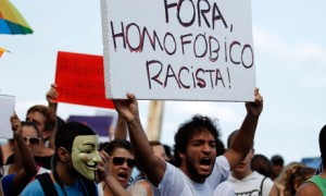 Activists in Brazil protest against evangelic pastor Marco Feliciano's appointment