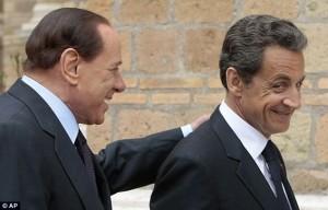 Берлускони и Саркози