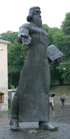 Памятник Ивану Федорову во Львове