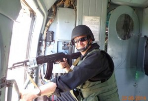 Кульчицкий в вертолете