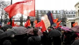 Митинг на площади Сталинград в Париже 6