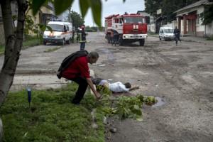 Результаты обстрела - Луганск
