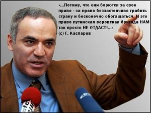 Каспаров борется за права