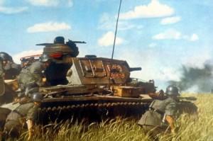 немецкие солдаты в русской степи